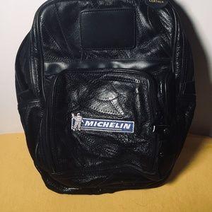 "Michelin Leather Bag w/handle 10""x13"""